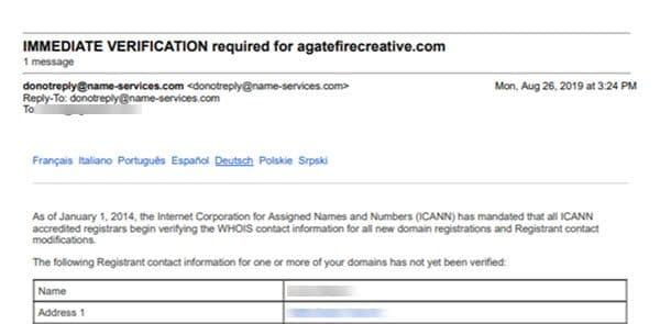 Email IMMEDIATE VERIFICATION required for not a scam