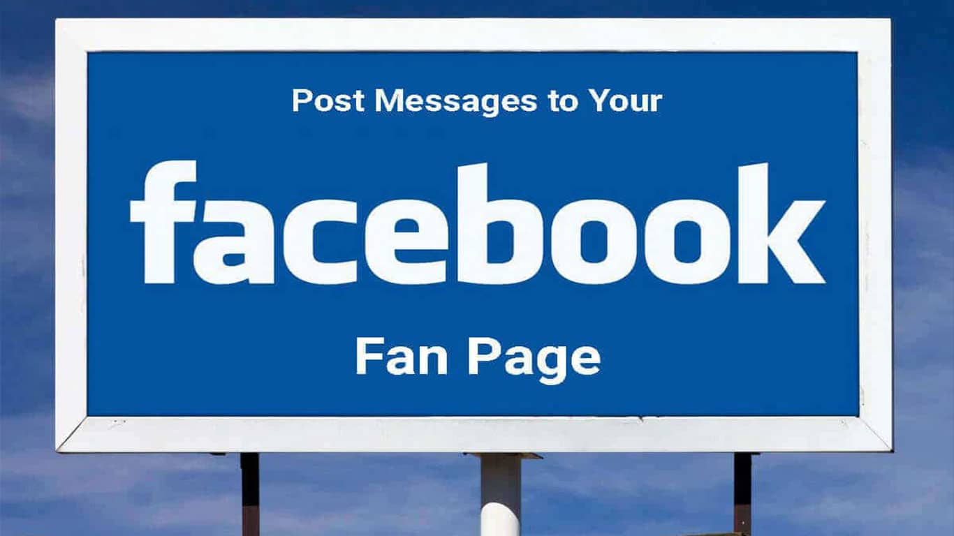 Post Messages to Facebook Fan Page