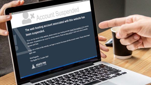 Web Hosting - This account has been suspended