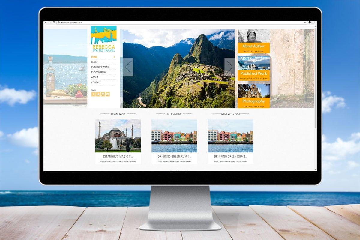Rebecca Write Travel WordPress Blog Website Design